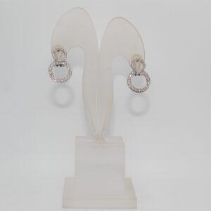 Orecchini in oro bianco 18kt con diamanti ct 0.46