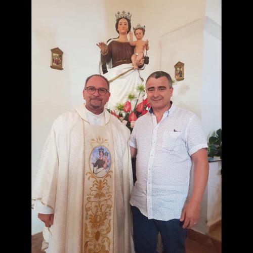 Il maestro orafo Aldo Ferraro con Don Leone Stelitano